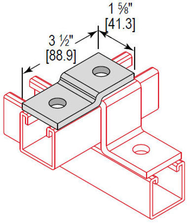 Picture for category Z Fitting Offset Support 2 Hole
