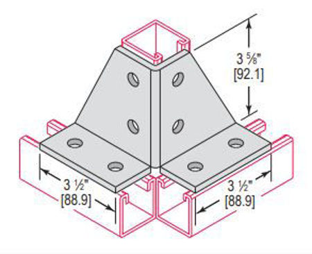 Picture for category Double Corner Connector 8 Hole